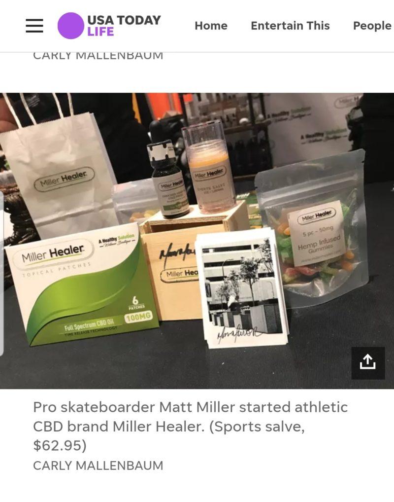 Pro skateboarder Matt Miller, who started CBD brand Miller